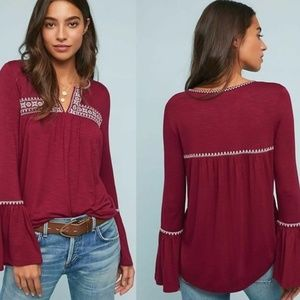 Anthropologie Casablanca Embroidered Top NWT